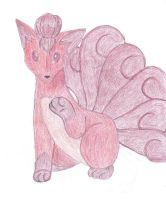 Vulpix Colored by GoddessSpiritwolf