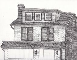 Stippling House Work In Progress by JesseAllshouse