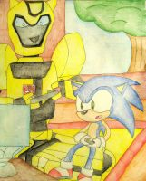 Bumblebee vs Sonic by still-a-fan