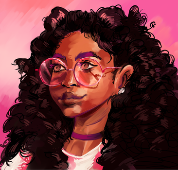 Pink Curls by ButteryTea