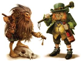 Korred and Leprechaun by boudicca