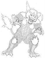 Kaiju sketch: King Ceasar by painted-wolfs-den
