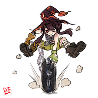 Megumin the Junkrat by MrAsianhappydude