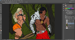 Chained Amazon. WIP coloring by UltraFighter3000