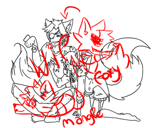 Wip Foxy and Mangle Cosplay by Dream-Yaoi