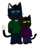 Sproutwhisker and Noirepaw by RobinAndHerDemons