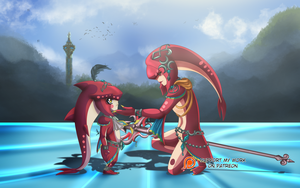 Sidon and Mipha by Neferity