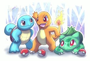 Pokemon Kanto Starters~ by Ppoint555