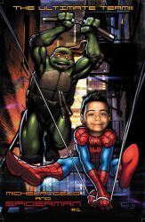 Spiderman + Mikey Birthday Pinup For Mason by Tonywash