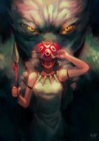 Princess Mononoke by leonardovincent