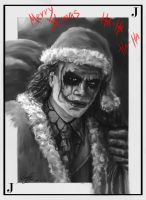 The Joker (black and white version) by Entar0178
