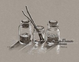 Small jars by dasidaria-art