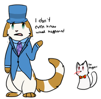 Tuxedo Cat :Art Trade: by Spiritpie