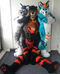 Fluffy critters by TheKareliaFursuits