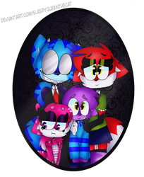 Old Family Picture [+ SPEEDPAINT] by SleepyQueenTheCat