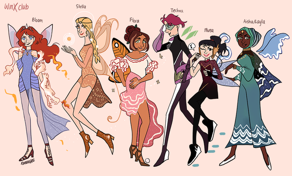 Winx Club Fairy Forms by reimena