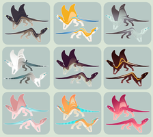 Manta Lizard Adoptables by Shegoran