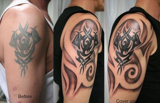 Cover Tattoo Tribal by 2Face-Tattoo