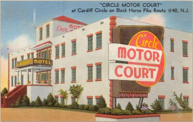 Vintage Motels - Circle Motor Court, Cardiff NJ by Yesterdays-Paper