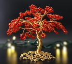 Flaming Heart-aka red and gold tree of life by Twystedroots
