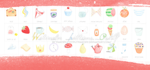 Watercolor patterns PNG by vanceiy by VanceIy