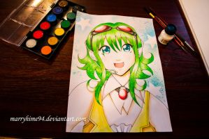 Gumi Megpoid Watercolors by Marryhime94