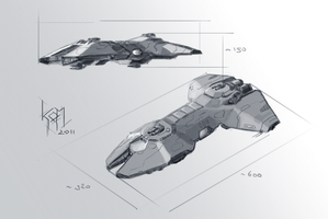 Another ship sketch 02 by Aldeminor
