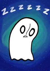 Napstablook - zzzz by Blackrystall