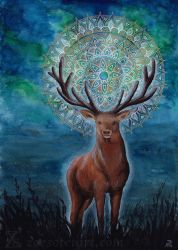 Red deer by ZoeSotet