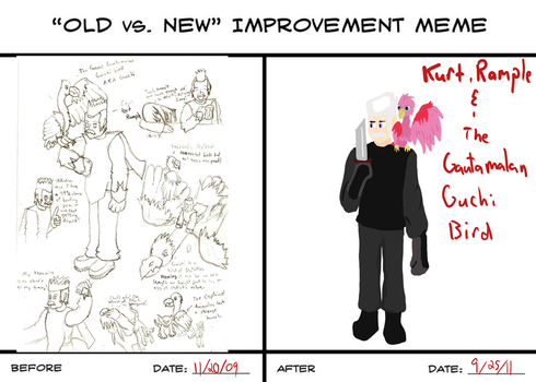 Old vs New Kurt Rample by Sonicchica