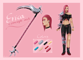 Go All Out! Game Concept Art - Erica - by PuroArt