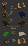 Different lowpoly books by Mafon