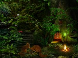 refuge of squirrel by Kathamausl