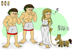 Okhlos - Castor, Pollux, and Helen of Troy by megawackymax