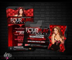 Fourplay Tuesdays Flyer by toxxic817