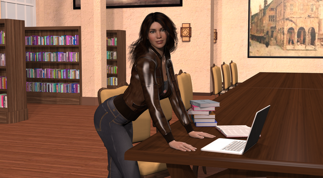 Library Study Session by ArianeB