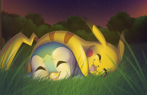 Pikachu and Piplup