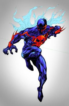 Spider-Man 2099 - shatteredweb colors by SpiderGuile