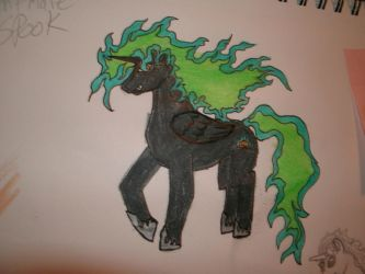 nightmare spook my oc for my little pony fim by blackrrose2