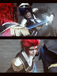 Mikoto and Reisi fight by ShadowFox-Cosplay