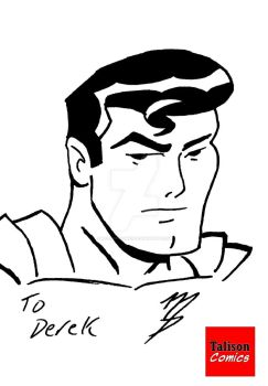 Superman Sketch Card in Bruce Timm Style by TalisonComics