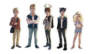 Teen deer lineup by Detkef
