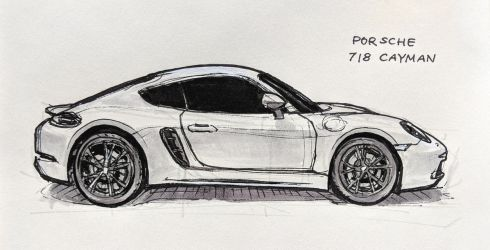 Porsche 718 Cayman (side view) by Hunternif