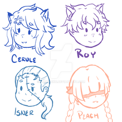 Team CSPR Chibi Headshots by LuckyJiku