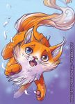 in the deep aceo card by tikopets