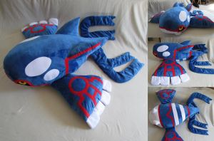 The biggest Kyogre plush you've ever seen