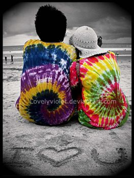 tie-dye lovers by lovelyviolet