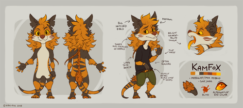 KamFox Reference Sheet by Kam-Fox