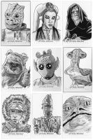 Star wars sketch cards - 2 by 93Cobra