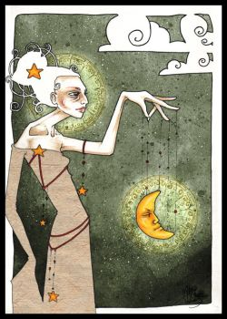 picking the moon for a puppet. by zum